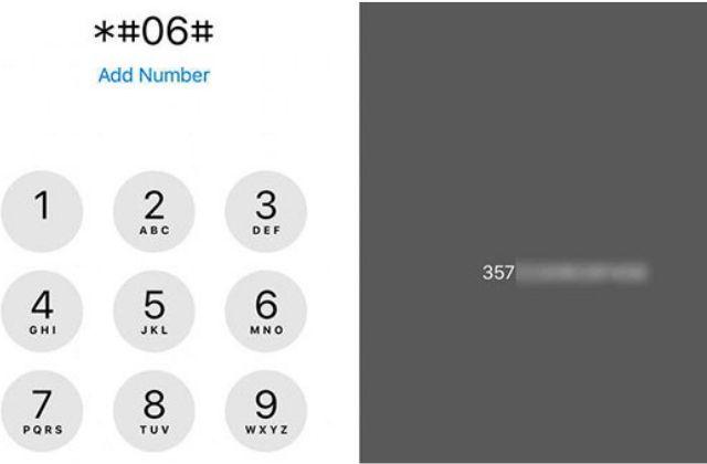 Thao tác kiểm tra imei trên iPhone