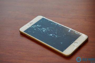 Màn hình iPhone bị nứt vỡ do rơi vỡ hoặc va đập