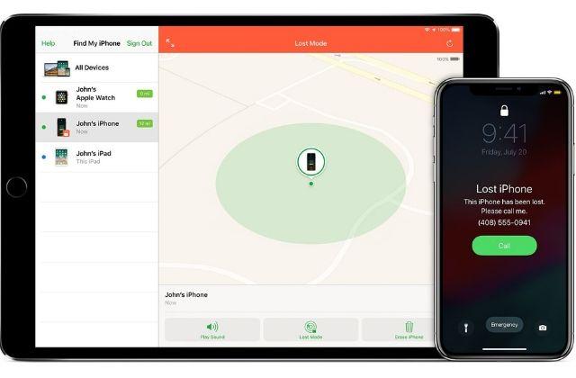 Tính năng Find my iPhone giúp định vị thiết bị và khóa máy khi cần thiết
