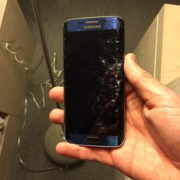 Ép kính Samsung S6 khi có dấu hiệu nứt vỡ mặt kính.