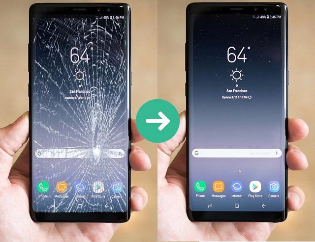 Thay kính Samsung Note 8 uy tín chất lượng
