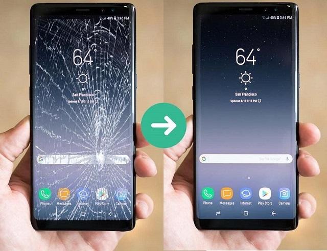 Giá thay màn hình Samsung Note 8 chịu sự chi phối của nhiều yếu tố