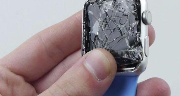 Màn Apple Watch bị nứt vỡ nghiêm trọng.