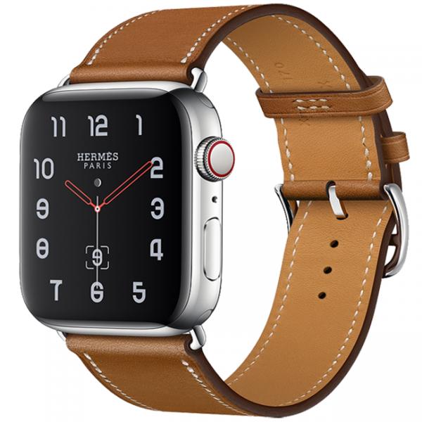 """Phiên bản dây đeo Hermes""""chanh sả"""" của Apple Watch sr 5."""