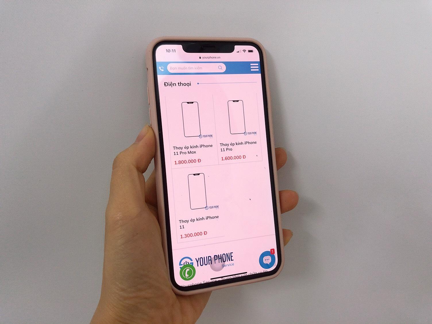 Yourphone thay ép kính iPhone 11 Pro Max uy tín, giá rẻ tại Hà Nội