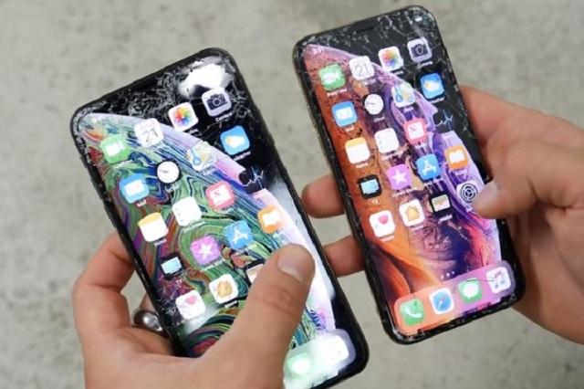 iPhone XS rơi vỡ màn hình