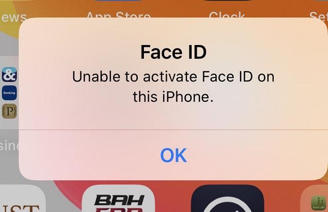Máy iPhone 11 báo lỗi Face ID