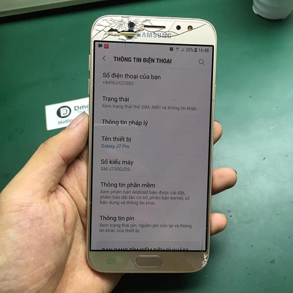 Samsung J7 2017 bị vỡ kính