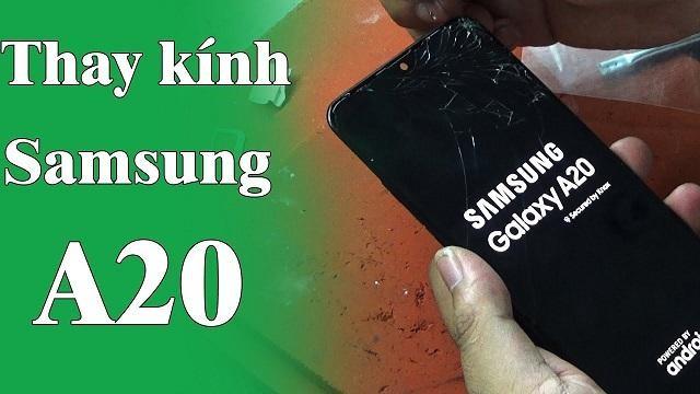 Thay kính Samsung A20 uy tín, giá rẻ tại Yourphone