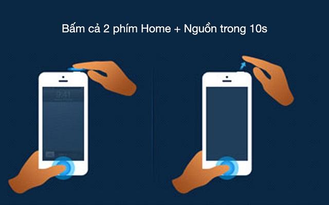 Reset iPhone để khắc phục tình trạng iPhone không lên nguồn