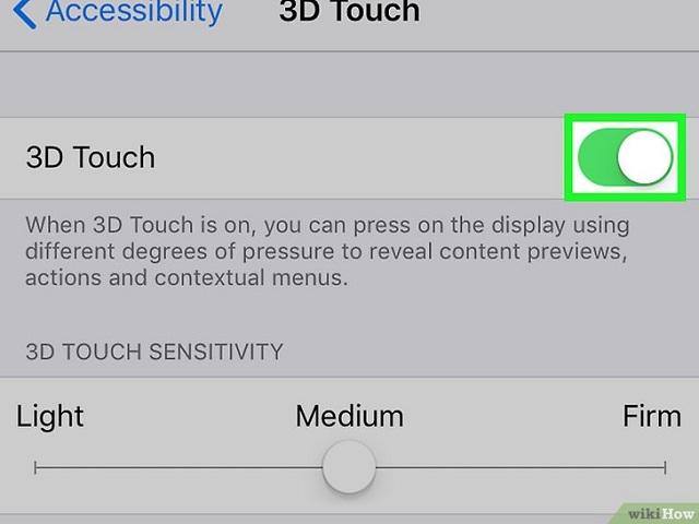 Bật 3D Touch