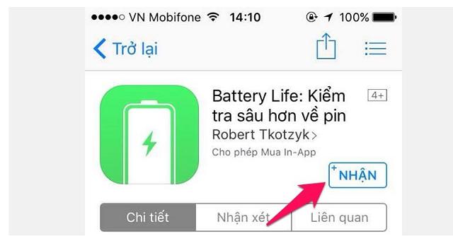 Cài đặt ứng dụng Battery Life