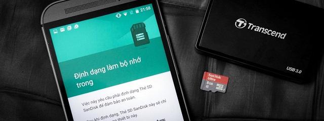 Định dạng thẻ nhớ điện thoại