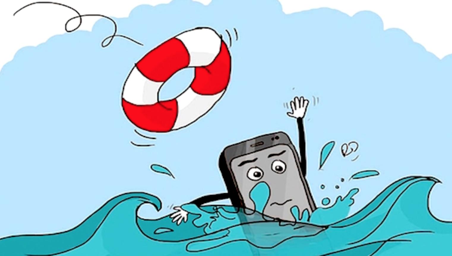 Không ngâm điện thoại trong nước