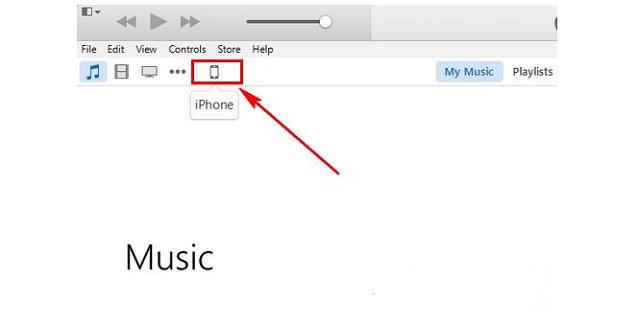 Nhấn vào biểu tượng iPhone