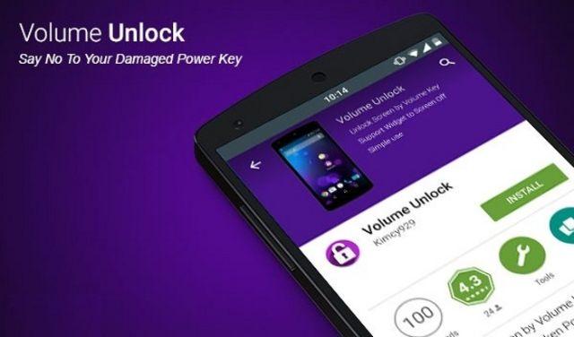 Tải ứng dụng Volume Unlock để mở nguồn mà không cần nút nguồn