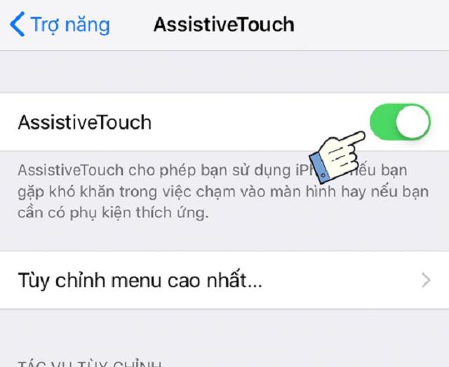 Kích hoạt Assistive Touch trên iPhone